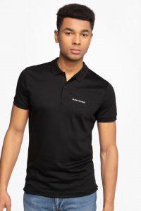 חולצת פולו קלווין קליין לגברים Calvin Klein MICRO BRANDING LIQUID - שחור