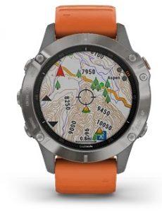 שעון גרמין לגברים Garmin fenix 6 Sapphire Titanium - כתום