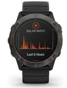 שעון גרמין לגברים Garmin fenix 6X Pro Solar Edition - שחור