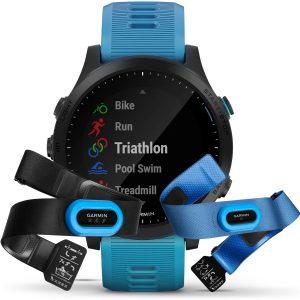 שעון גרמין לגברים Garmin Forerunner 945 Bundle - כחול
