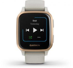 שעון גרמין לגברים Garmin Venu Sq Music - לבן