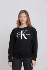 סווטשירט קלווין קליין לנשים Calvin Klein ICON LOGO - שחור