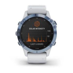 שעון גרמין לגברים Garmin fenix 6 Pro Solar - לבן