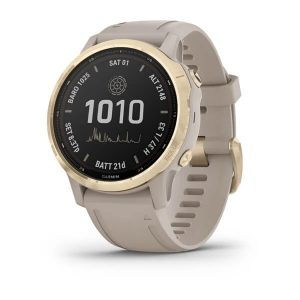 שעון גרמין לגברים Garmin fenix 6S Pro Solar - אפור בהיר