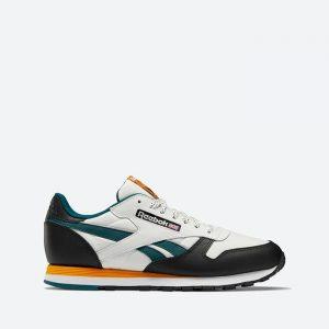 נעלי סניקרס ריבוק לגברים Reebok Classic Leather - לבן/שחור