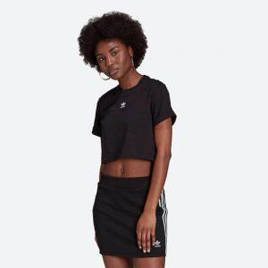 טופ וחולצת קרופ אדידס לנשים Adidas Originals ADICOLOR ESSENTIALS - שחור