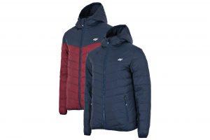 ג'קט ומעיל פור אף לגברים 4F H4Z21 KUMP010 - כחול כההאדום