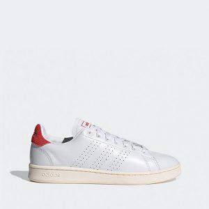 נעלי סניקרס אדידס לגברים Adidas Advantage - לבן/אדום