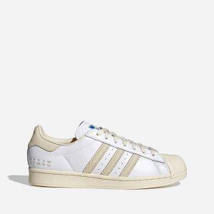נעלי סניקרס אדידס לגברים Adidas Originals Superstar Fashion Basic Pack - לבן/בז'