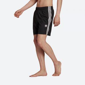 מכנס ספורט אדידס לגברים Adidas Originals shorts 3-Stripes Swims - שחור