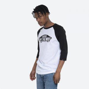 חולצת T ואנס לגברים Vans Raglan  T-shirt - לבן