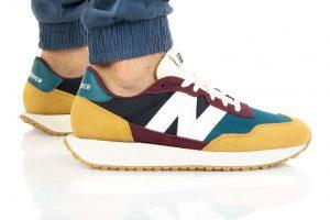 נעלי סניקרס ניו באלאנס לגברים New Balance MS237 - לבן/צהוב