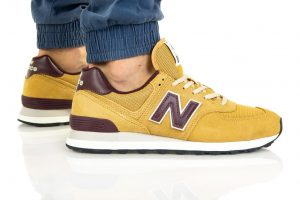 נעלי סניקרס ניו באלאנס לגברים New Balance ML574 - צהוב