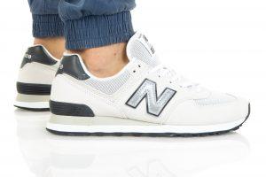 נעלי סניקרס ניו באלאנס לגברים New Balance ML574 - לבן