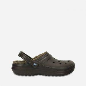 כפכפי Crocs לגברים Crocs Classic Lined Clog - חום כהה