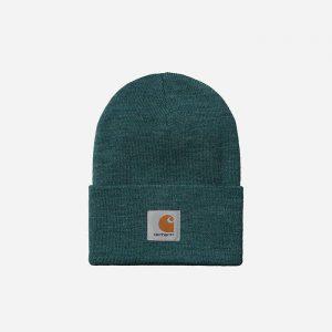 כובע קארהארט לגברים Carhartt WIP Acrylic Watch - כחול/ירוק