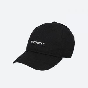 כובע קארהארט לגברים Carhartt WIP Canvas Script - שחור