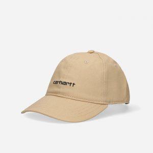 כובע קארהארט לגברים Carhartt WIP Canvas Script - בז'