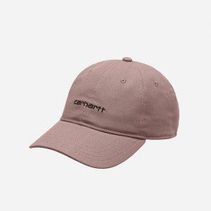 כובע קארהארט לגברים Carhartt WIP Canvas Script - ורוד