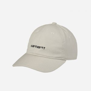 כובע קארהארט לגברים Carhartt WIP Canvas Script - לבן/בז'