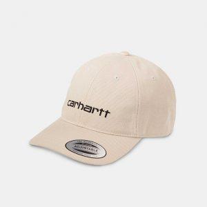 כובע קארהארט לגברים Carhartt WIP Carter - לבן/בז'