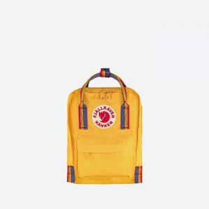 תיק Kanken לגברים Kanken Rainbow Mini - צהוב