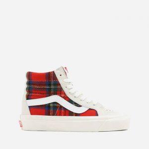 נעלי סניקרס ואנס לגברים Vans Pendleton UA SK8-Hi 38 DX - לבן/אדום