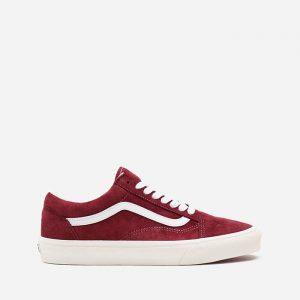 נעלי סניקרס ואנס לגברים Vans UA Old Skool Pig Suede - אדום