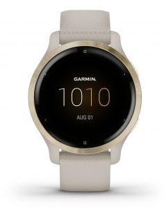 שעון גרמין לגברים Garmin Venu 2s - לבן/זהב