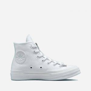 נעלי סניקרס קונברס לנשים Converse Chuck 70 Zip - לבן