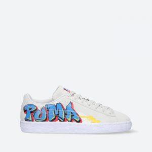 נעלי סניקרס פומה לנשים PUMA Suede Street Art Jr - לבן