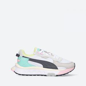 נעלי סניקרס פומה לנשים PUMA Wild Rider Layers - לבן